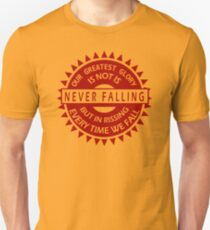Falling Confucius Funny T-Shirt & Hoodies  Unisex T-Shirt