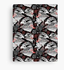 graphic design portraits of eagles Canvas Print