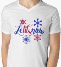 Lass es schneien Lass es schneien T-Shirt mit V-Ausschnitt