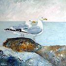 Herring Gulls, Staithes by Sue Nichol