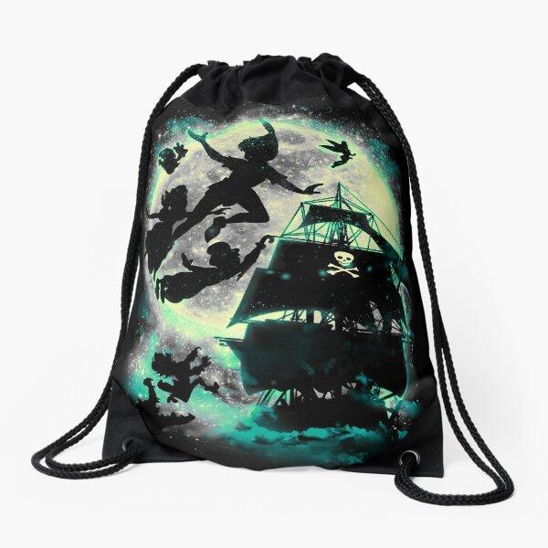 Take me to Neverland Drawstring Bag