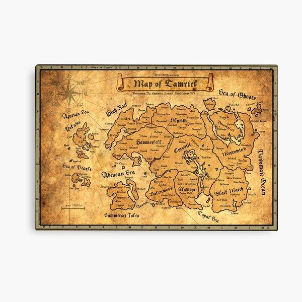 Tamriel map Canvas Print