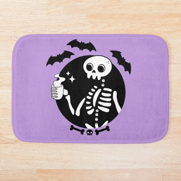 Death Before Decaf // Purple Bath Mat