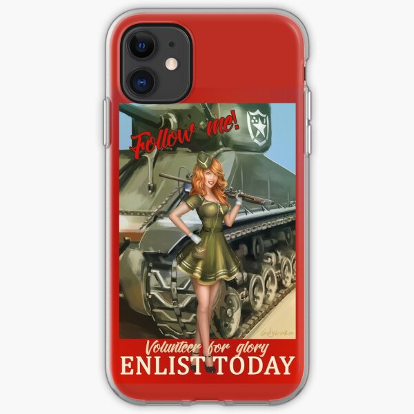 Enlist Today, Empira Glory, Pin up Girl iPhone Soft Case