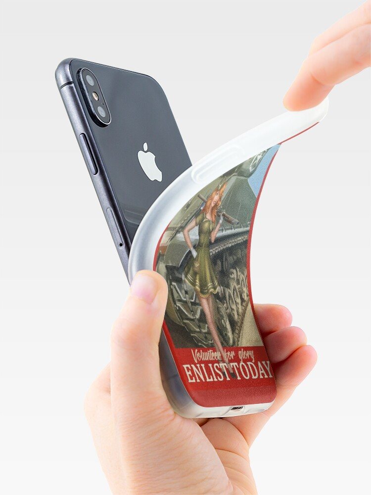 Alternate view of Enlist Today, Empira Glory, Pin up Girl iPhone Case & Cover