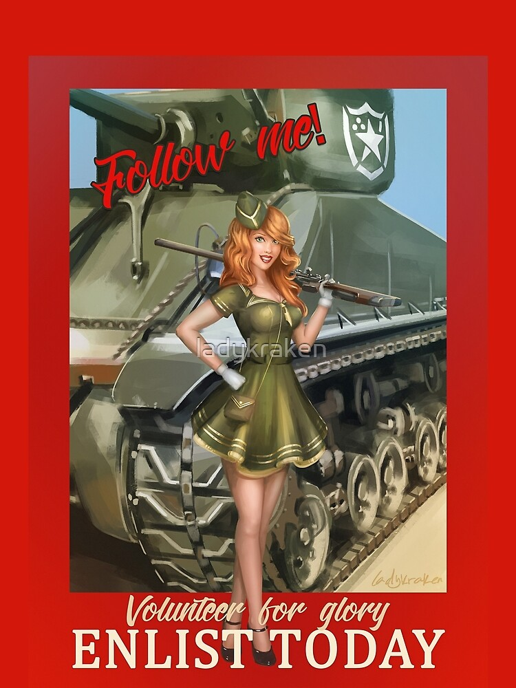 Enlist Today, Empira Glory, Pin up Girl by ladykraken