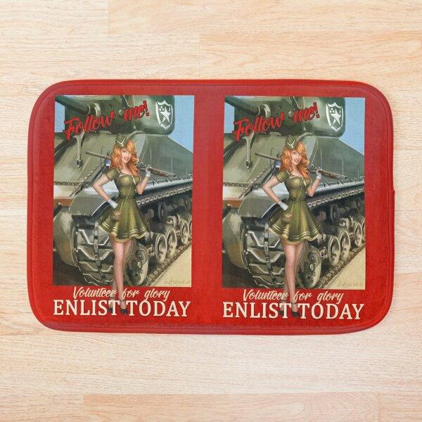 Enlist Today, Empira Glory, Pin up Girl Bath Mat