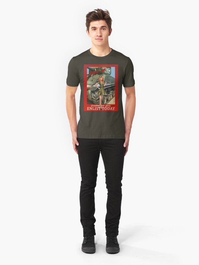 Alternate view of Enlist Today, Empira Glory, Pin up Girl Slim Fit T-Shirt