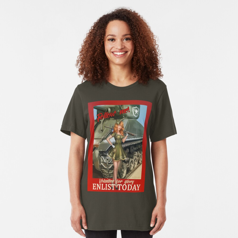 Enlist Today, Empira Glory, Pin up Girl Slim Fit T-Shirt