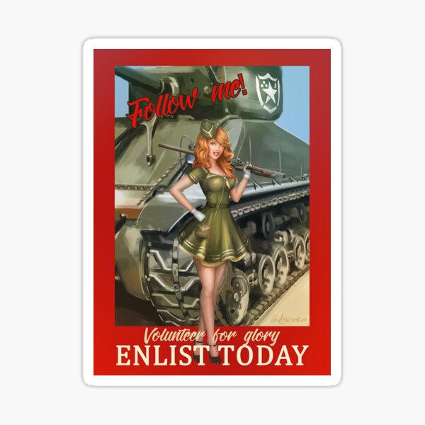 Enlist Today, Empira Glory, Pin up Girl Sticker