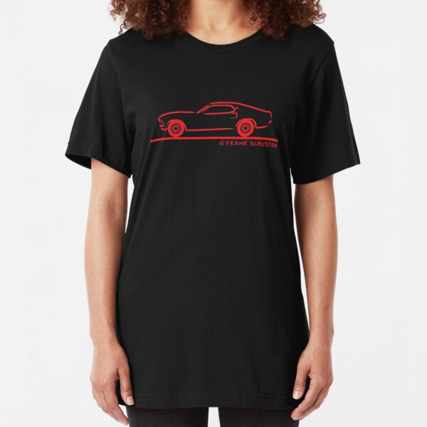 Ford Motor Mustang Pony Car 1969 Boss 427 Blue T-Shirt New LG Racing