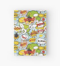 Comic POW BAMM BOOM POOF WTF Muster 1 Notizbuch