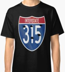 Camiseta clásica Interstate 315 Bullets I-315 15 Business Sistema de autopistas interestatales en Great Falls Montana