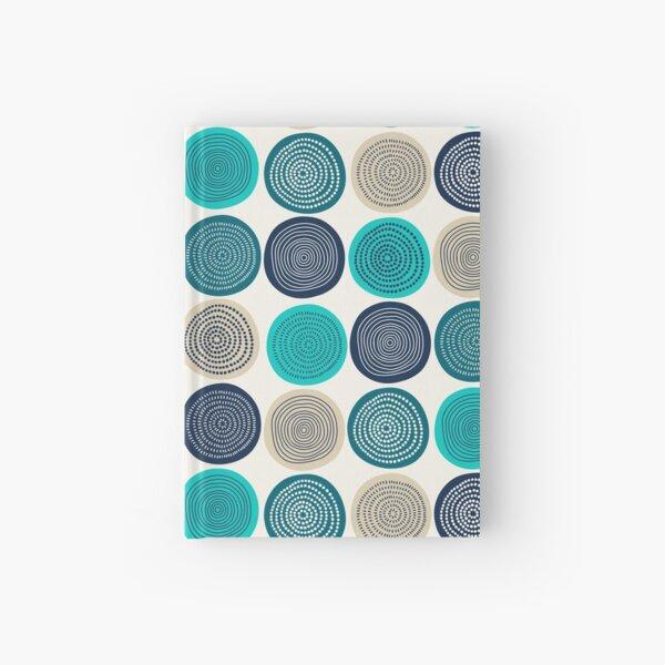 Skandinavisches Kreis punktiert Mandala-Muster 1 Notizbuch