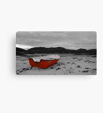Sanna Cove: The Red Boat Canvas Print