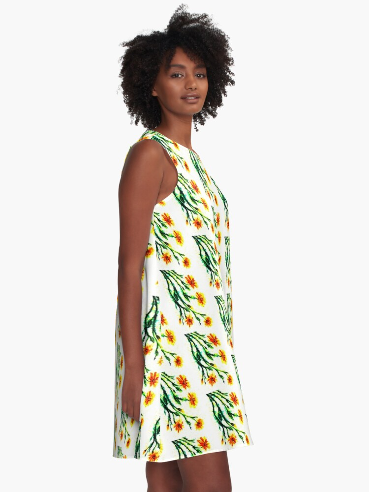 Alternate view of A Splash of Sunshine - Flowers A-Line Dress