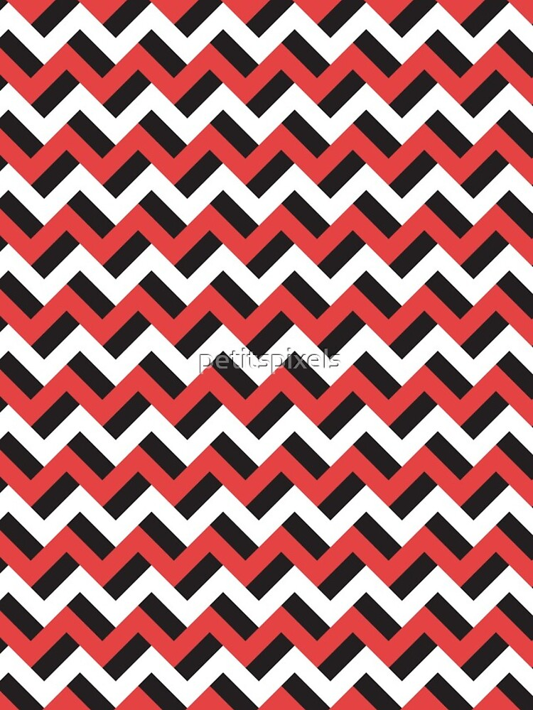 Red black and white zigzags by petitspixels