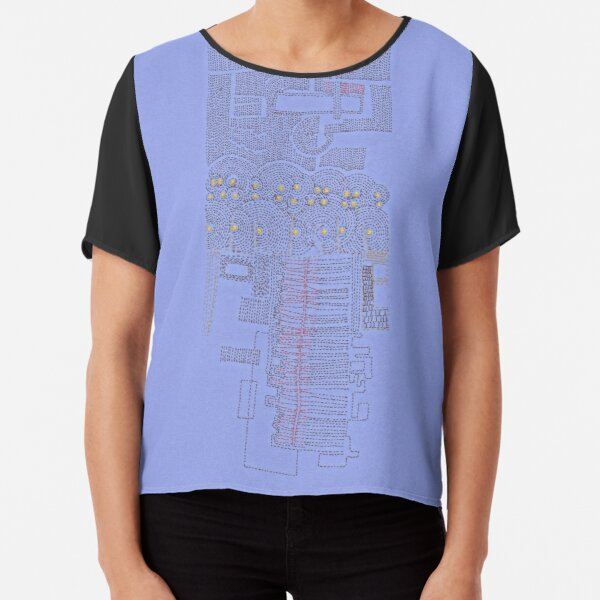 Stitches: City lines Chiffon Top
