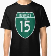 Camiseta clásica 15 Loop Business Great Falls Montana Business Loop de la Interestatal 15