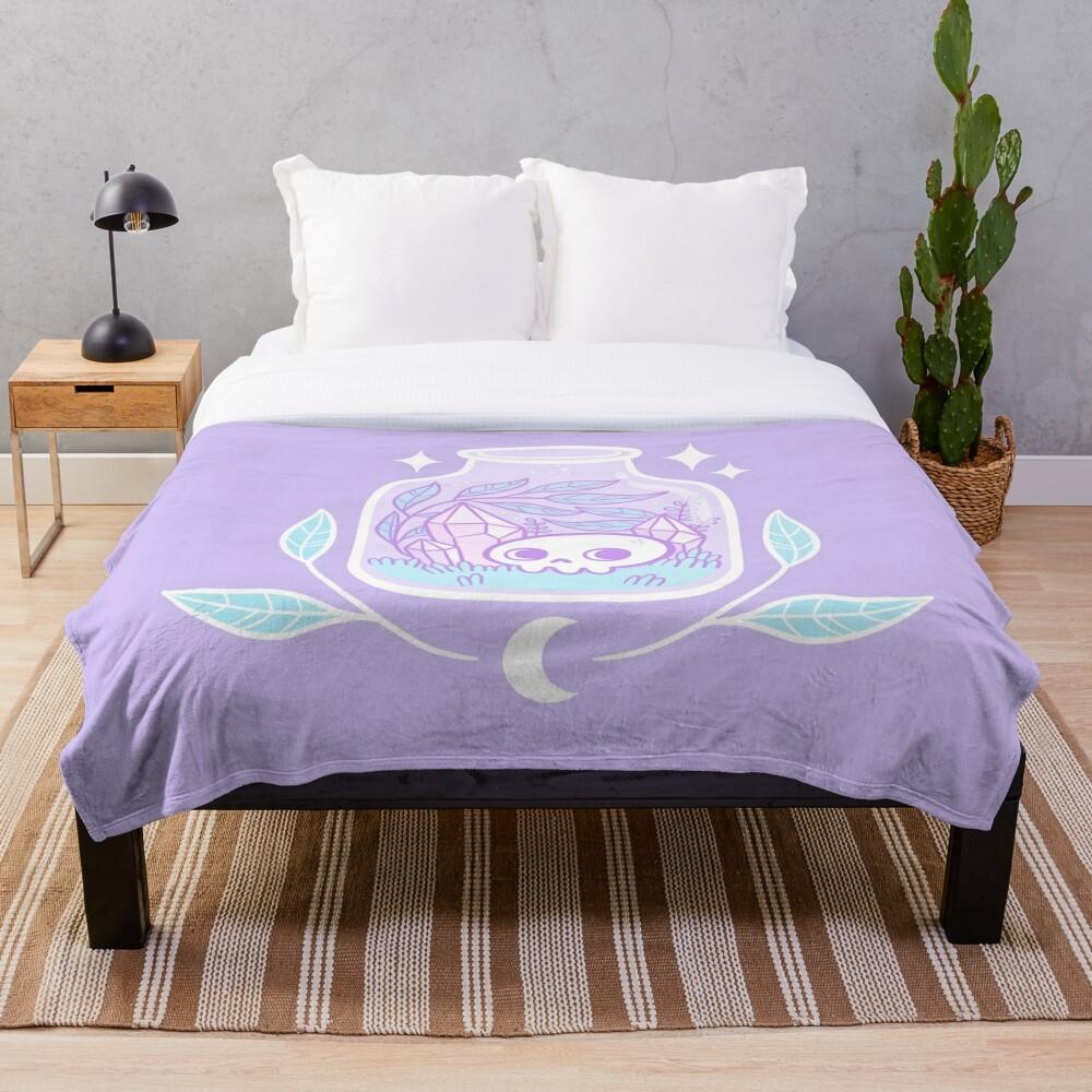 Pastel Terrarium Throw Blanket