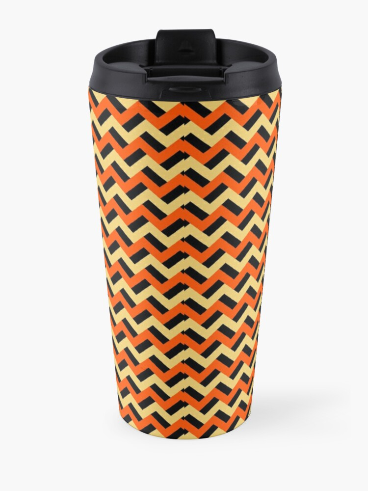 Alternate view of Pumpkin-esque zigzags Travel Mug