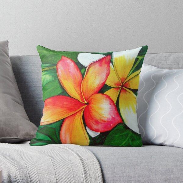 Frangipanis Throw Pillow