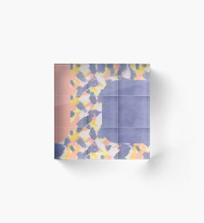Messy Painted Tiles 01 #redbubble #midmod Acrylic Block