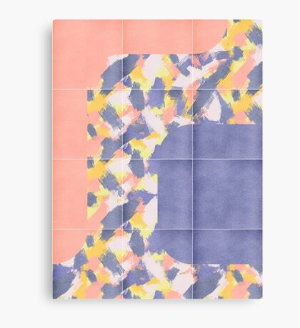 Messy Painted Tiles 01 #redbubble #midmod Canvas Print
