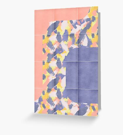 Messy Painted Tiles 01 #redbubble #midmod Greeting Card