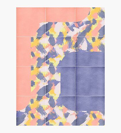 Messy Painted Tiles 01 #redbubble #midmod Photographic Print
