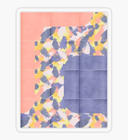 Messy Painted Tiles 01 #redbubble #midmod Transparent Sticker