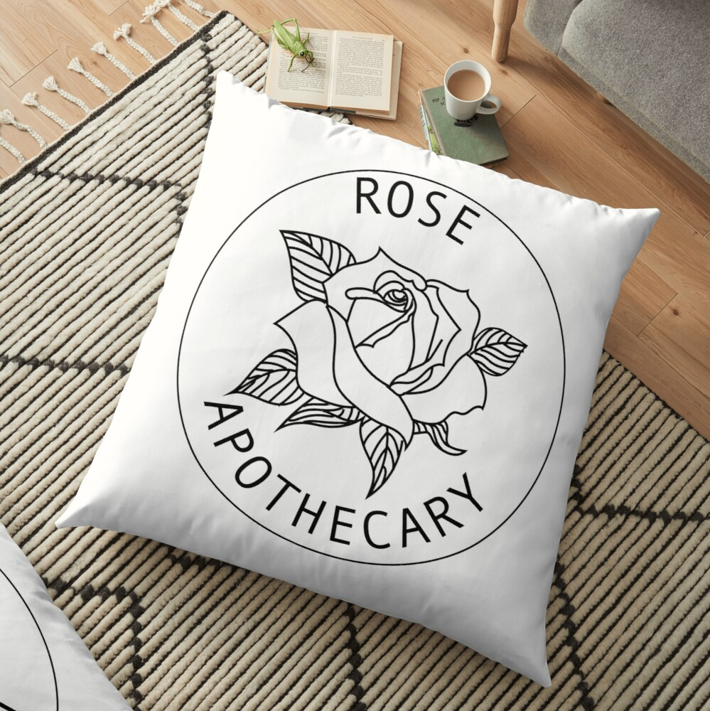 Rose Apothecary - White Floor Pillow
