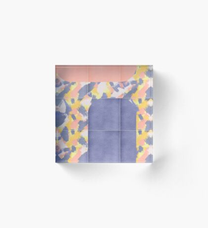 Messy Painted Tiles 02 #redbubble #midmod Acrylic Block
