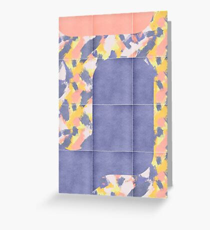 Messy Painted Tiles 02 #redbubble #midmod Greeting Card