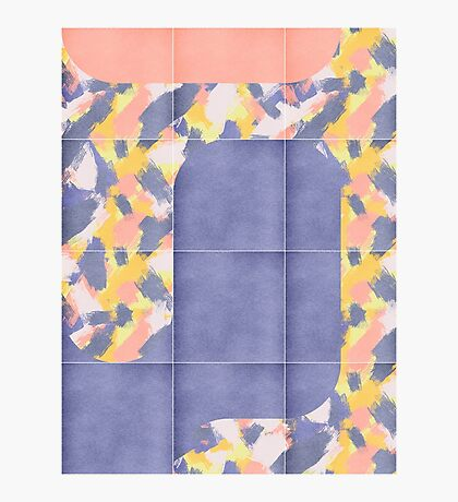 Messy Painted Tiles 02 #redbubble #midmod Photographic Print