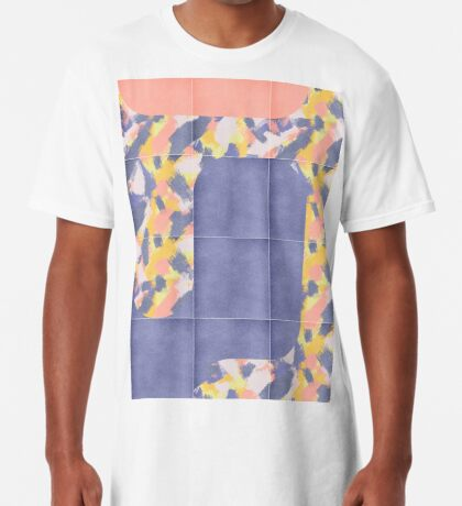 Messy Painted Tiles 02 #redbubble #midmod Long T-Shirt