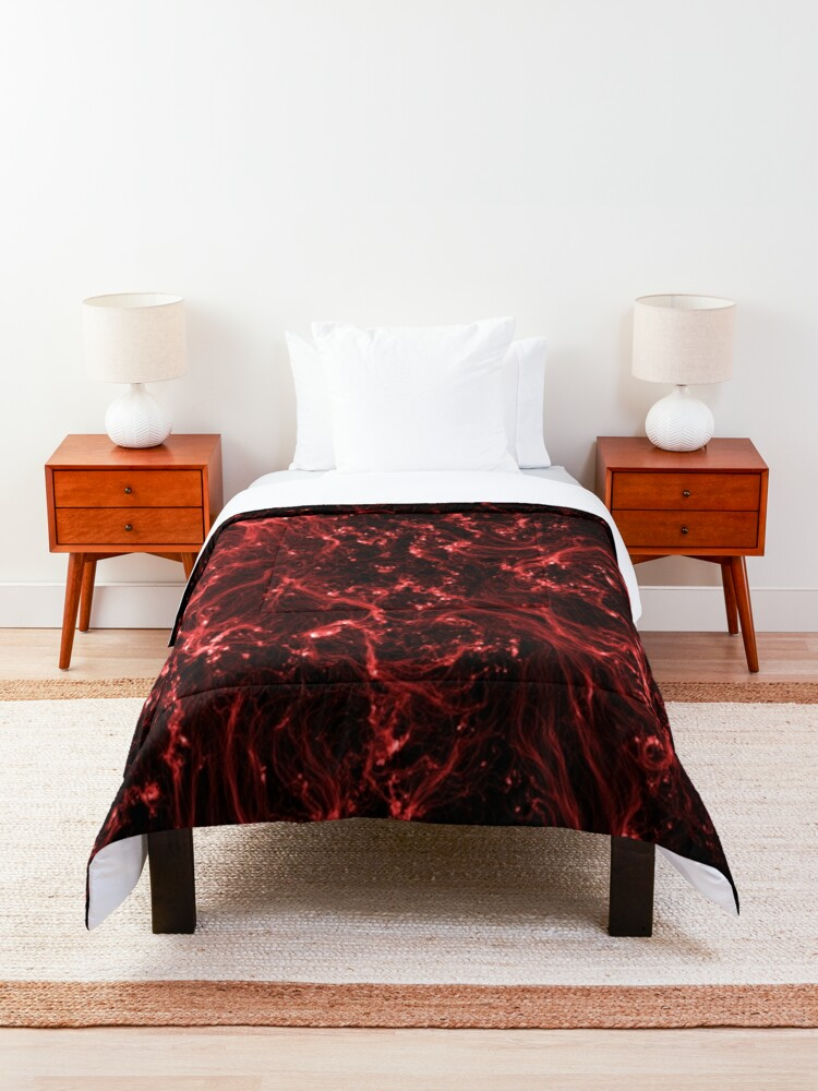 Alternate view of Neon Flame Ruby Comforter