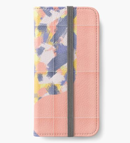 Messy Painted Tiles 03 #redbubble #midmod iPhone Wallet