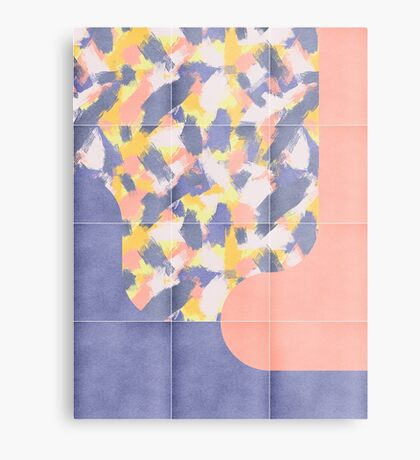 Messy Painted Tiles 03 #redbubble #midmod Metal Print