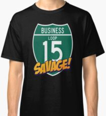 Camiseta clásica 15 Loop Business Savage Great Falls Montana Business Loop de la Interestatal 15