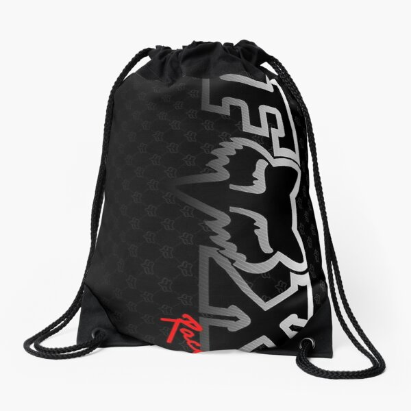 fox head racing  Drawstring Bag