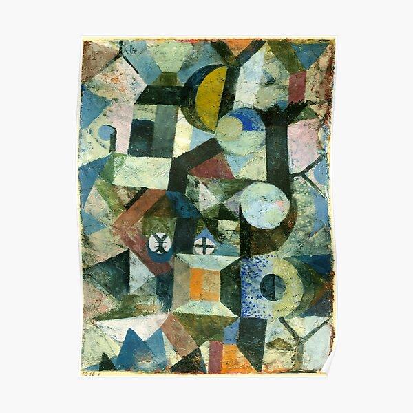Paul Klee | Composition avec la demi-lune jaune et le Y Poster