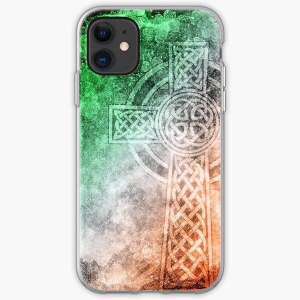 Distressed Irish Celtic Cross iPhone Soft Case