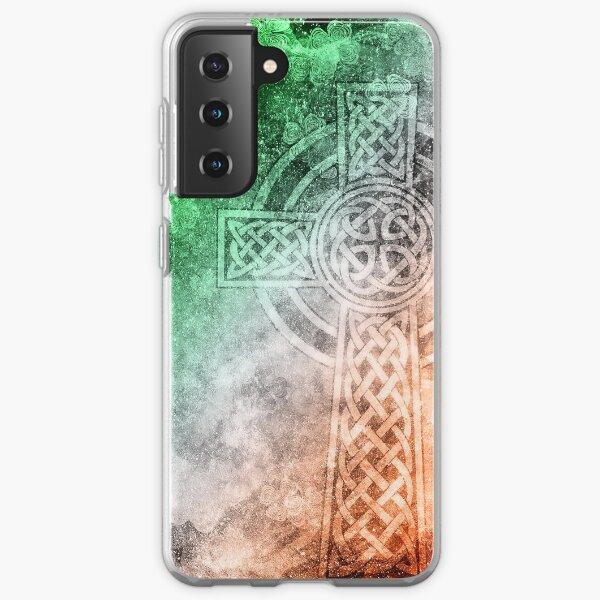 Distressed Irish Celtic Cross Samsung Galaxy Soft Case