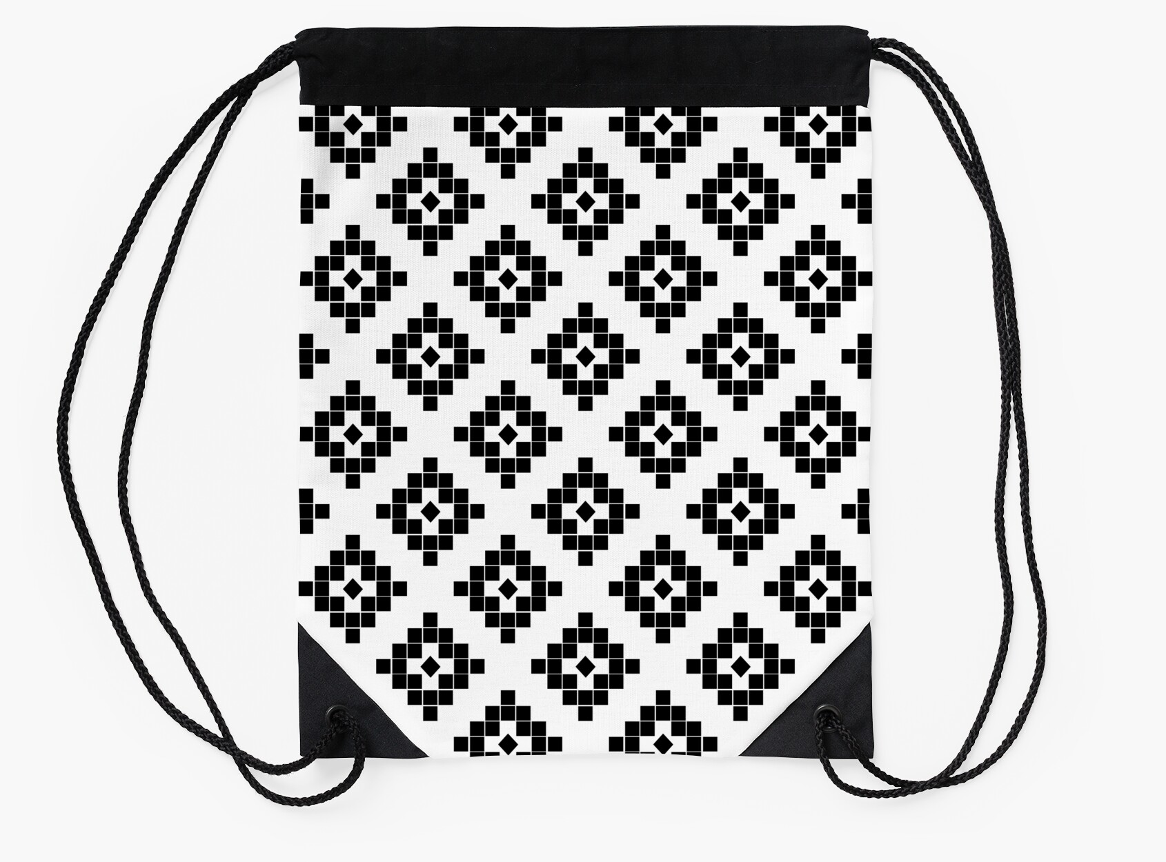 Southwest in black and white modern traditional geometric aztec ...