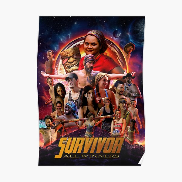 Survivor All Winners Poster Poster