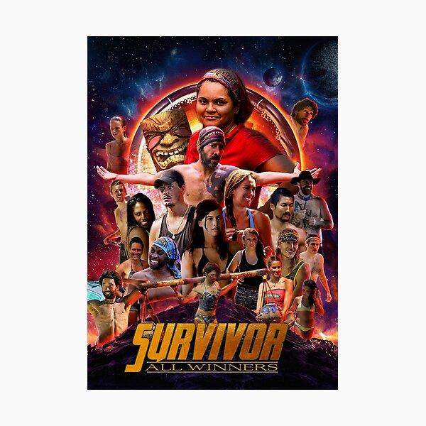 Survivor All Winners Poster Photographic Print