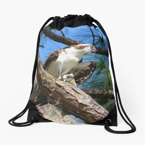 Osprey, the Sea Hawk Drawstring Bag