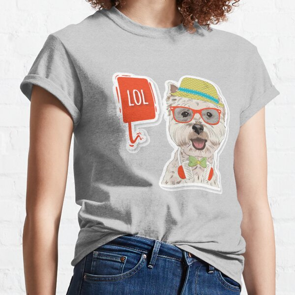 Hipster Westie LOL Classic T-Shirt