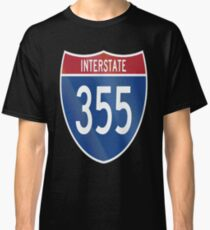 Camiseta clásica Autopista interestatal 355 I-355 Veterans Tollway Chicago Illinois State Toll Highway